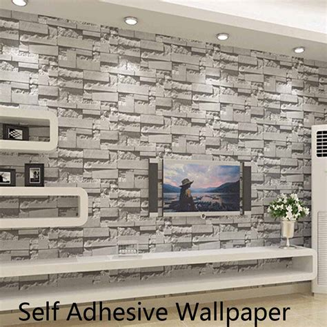 self sticking wallpaper self adhesive brick stone wallpapers 3d wall paper