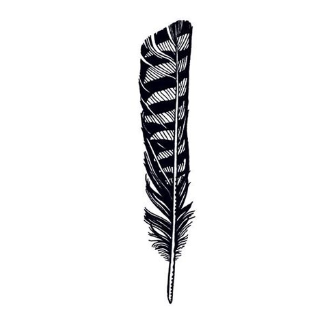 black hawk feather design