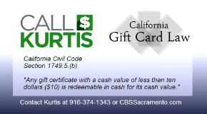Gift Card Law California - call kurtis undercover california s gift card refund law 171 cbs sacramento