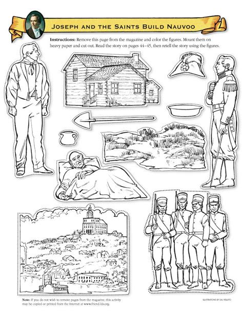 lds coloring pages joseph smith lds coloring pages 2016 2008 catholic fun pinterest