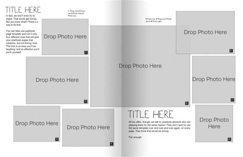 Free Yearbook Page Templates by The Only Yearbook Page Template You Need