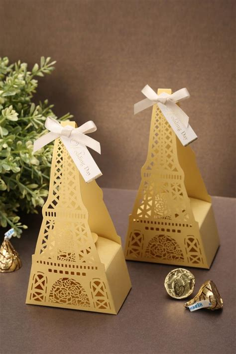 wedding supplies wholesale 10pcs classic eiffel tower shaped wedding candy