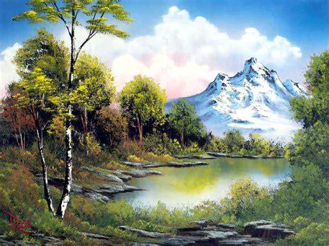 bob ross painting water reflections 人间仙境壁纸 图片展示 派派小说论坛