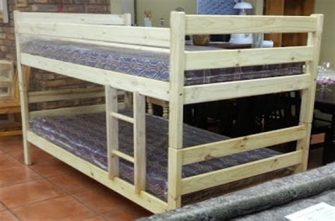 bunk bed foam mattress tom s bunk bed in pine wood with two foam mattress