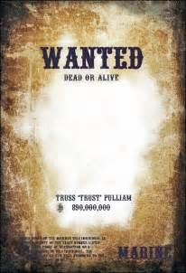 Free Wanted Poster Template by 7 Free Wanted Poster Templates Psd Design