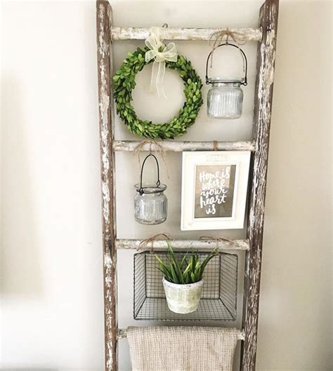 decorative ladder for bathroom 25 best ideas about wooden ladder decor on pinterest
