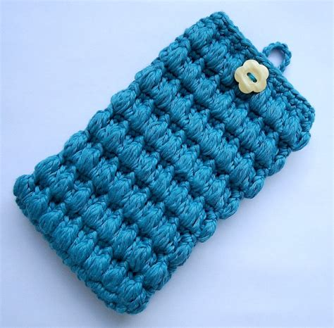 cell stitch knitting stitch of pattern cell phone cozy