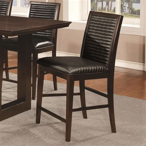 counter height upholstered chairs chester upholstered counter height chair set of 2 from