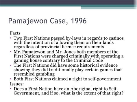 section 35 of the canadian constitution r v pamajewon