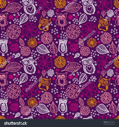 owl pattern vector free download seamless flowers owl pattern background vector stock