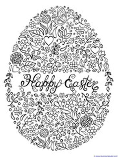 easter egg coloring page for adults easter egg coloring pages for adults part 1
