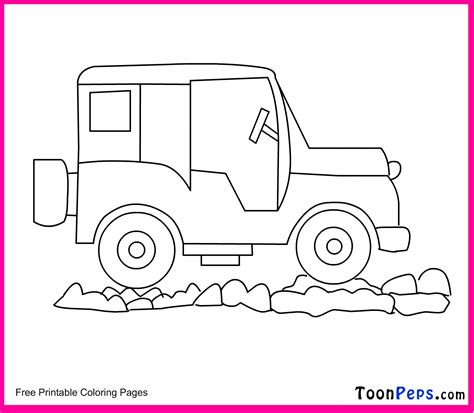 free coloring pages of cartoon images jeep