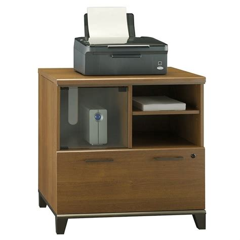 Bush Achieve 1 Drawer Lateral File Cabinet In Warm Oak One Drawer Lateral File Cabinet