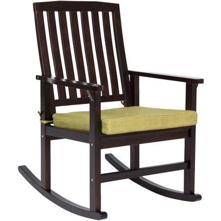 choice products indoor outdoor home wooden patio rocking chair porch rocker set glider
