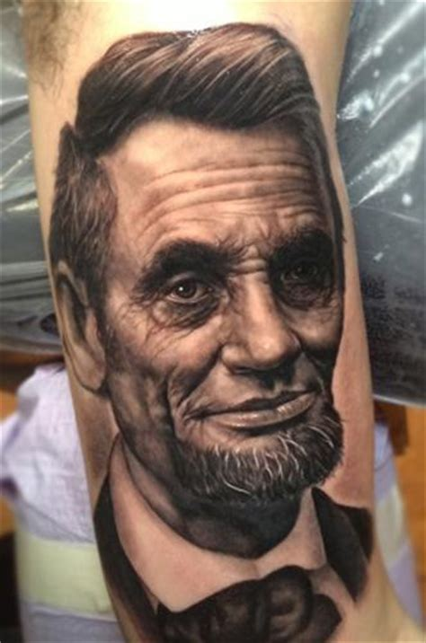 abraham lincoln tattoo abe lincoln black and gray portrait by steve wimmer