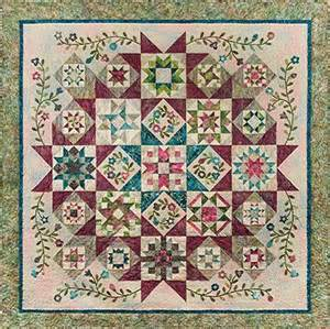 layout block of the month and quilt on