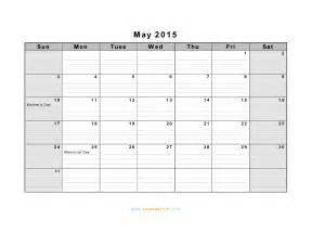 may 2015 calendar template blank calendar may 2015 landscape calendar