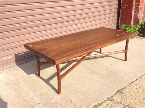 custom made black walnut slab coffee table by martell