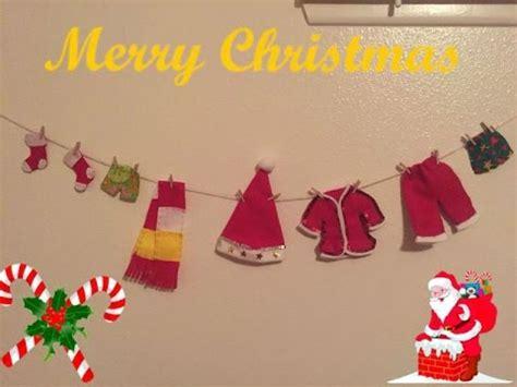 imagenes ropa de santa claus diy manualidades para navidad tendederos de ropa de santa