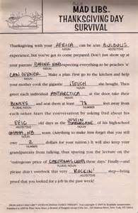 thanksgiving madlib 7 best images of thanksgiving mad libs free printable