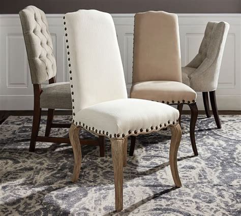 Pottery Barn Dining Chairs Ashton Tufted Dining Chair Ship Pottery Barn