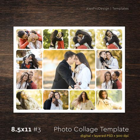 photo collage template 85 x 11 3 13 photo storyboard
