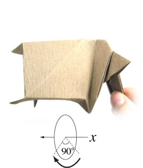 How To Make An Origami Cow - how to make a standing origami cow page 14