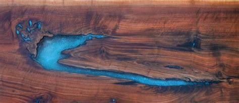 custom   edge walnut epoxy resinturquoise inlay