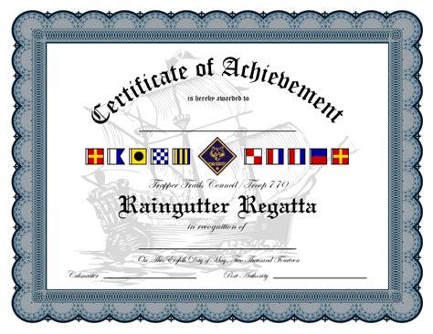 cub scout certificate templates raingutter regatta certificate