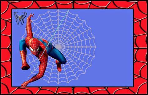 printable birthday card spiderman spiderman invitaciones para imprimir gratis projects