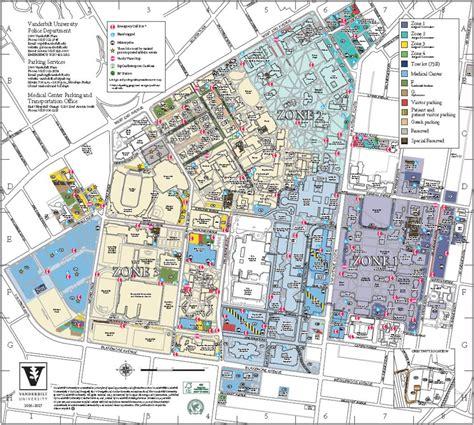 parking map parking maps maps parking services vanderbilt