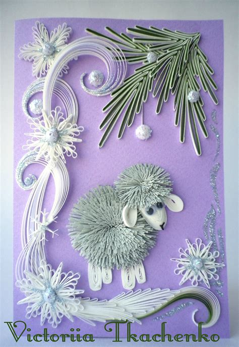 Greeting Card Using Quilling Paper - quilling greeting card quilling card new year
