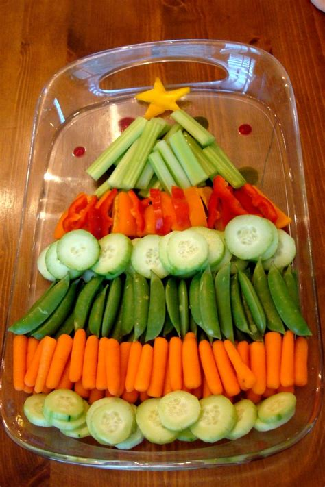 christmas tree vegetable platter holidays pinterest