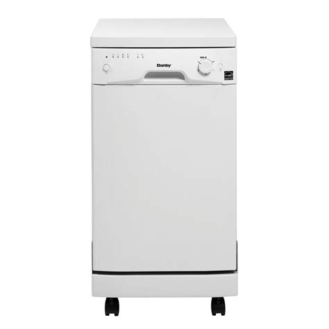 danby dishwashers 18 in portable dishwasher in white with