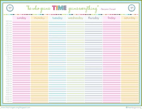 excel schedule printable daily schedule template 02 excel schedule