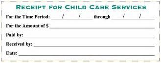 Child Care Receipt Template Example Of Babysitting Receipt Joy Studio Design Gallery