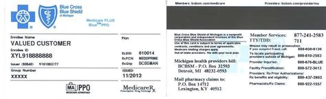Blue Cross Connected Care Michigan Sle Medicare Plus Blue Ppo Id Card