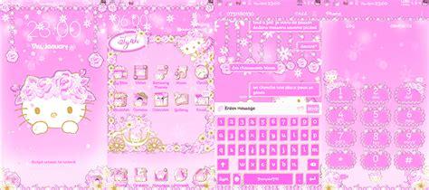 wallpaper hello kitty warna pink hello kitty samsung themes ladypinkilicious