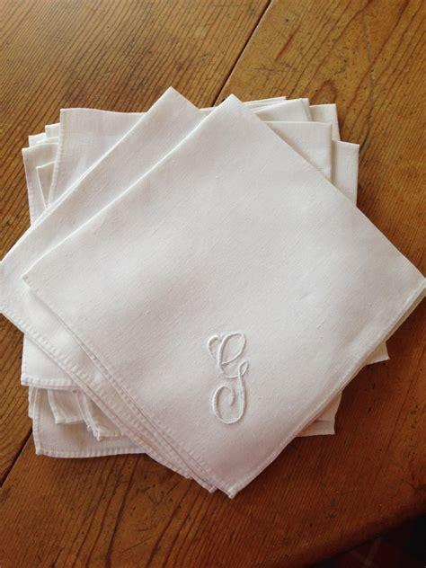 monogrammed linen napkins fine linen set of twelve monogrammed napkins from