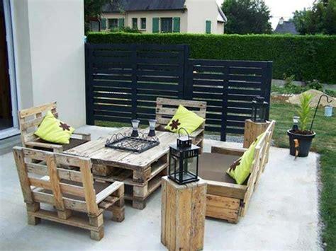 mobilier de jardin en faire mobilier de jardin en palette qaland
