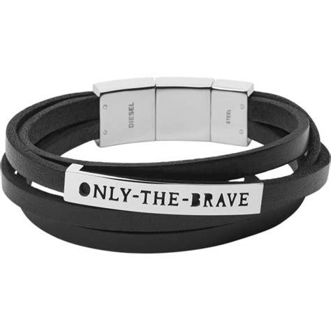 Diesel Bracelet bracelet diesel dx0922040 bracelet cuir noir homme sur