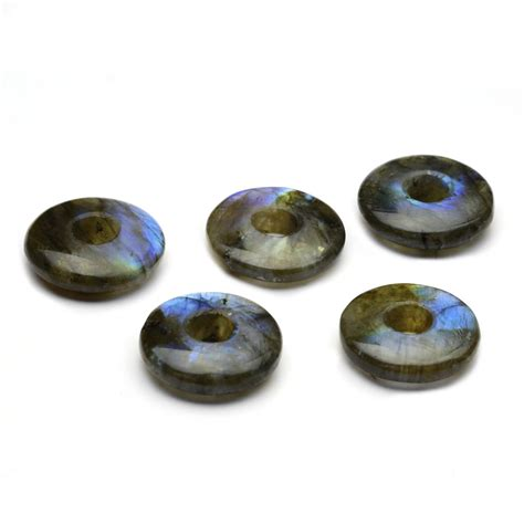labradorite gemstone donut 20mm