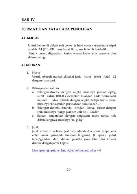 format font skripsi buku panduan skripsi nonskripsi 2013
