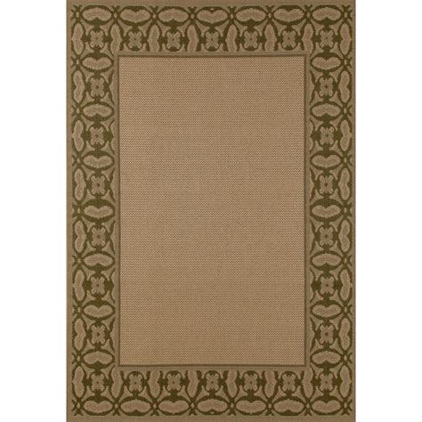 rugs plymouth carpet plymouth conversing beige 6 ft 7 in x 9 ft 2 in indoor outdoor area rug 29618