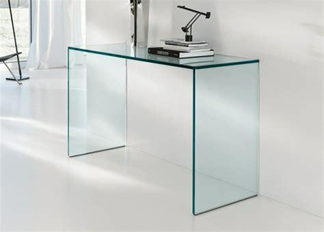 schreibtisch aus glas extravaganter schreibtisch aus durchsichtigem glas