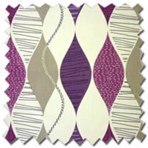 plum and white curtains contemporary patterned funky retro white plum purple