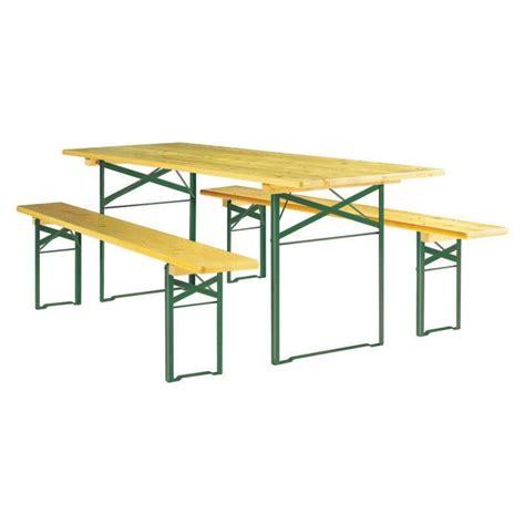 Table En Bois Pliante Et Banc by Table Et Bancs Pliants En Bois Ensemble Table Et Bancs