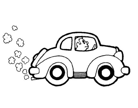 car driving coloring page peppa pig and family driving a car coloring page for kids