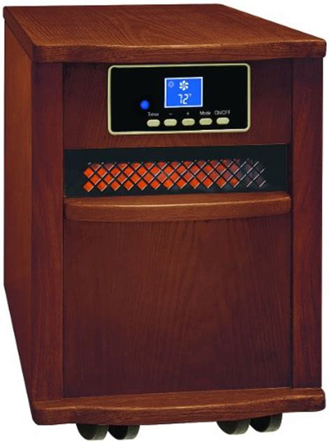 comfort zone infrared heater comfort zone 174 walnut finish fan forced digital infrared