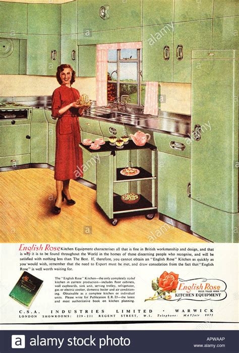 kitchen cabinet advertisement 1950s kitchen english rose design advertisement 1958